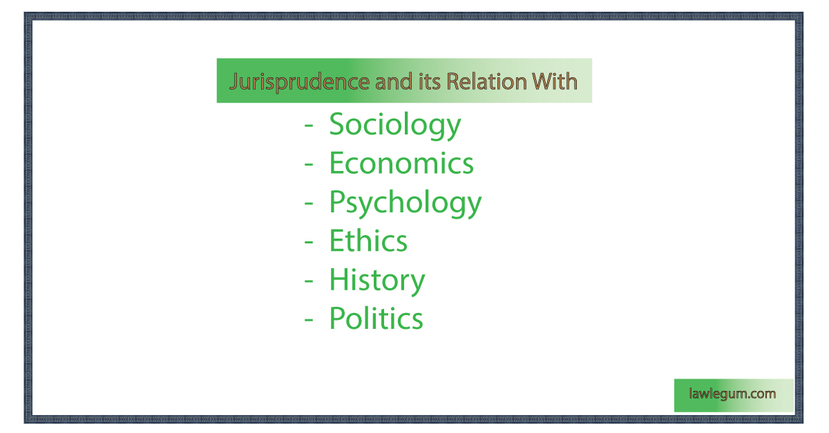 Jurisprudence and its relation with other sciences and subjects